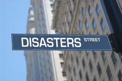Disasters street Royalty Free Stock Image