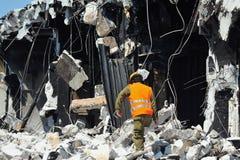 Disastre da emergência do edifício Fotografia de Stock