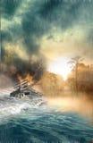 Disastre de inundação ilustração royalty free