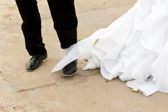 Disastre do casamento fotografia de stock royalty free