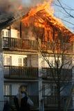 Disastre do incêndio foto de stock