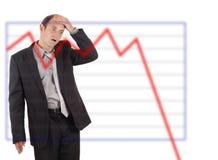 Disastre do negócio Foto de Stock Royalty Free