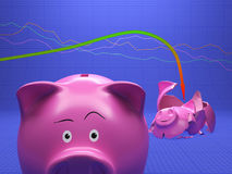 Disastre econômico inesperado ilustração stock