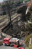 Disastro del treno in Viareggio, Italia Fotografia Stock Libera da Diritti