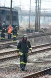 Disastro del treno in Viareggio, Italia fotografia stock