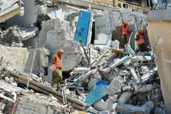 Disastro di emergenza della costruzione Fotografia Stock