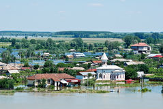 Disastrous Floods Hit Romania - July 5 stock images