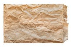 Disastrously brown papierowa torba odizolowywająca Obrazy Stock