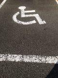 Disattivi il parcheggio dell'automobile Immagine Stock Libera da Diritti