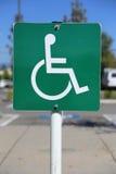 Disattivi il segno di parcheggio Immagine Stock