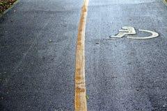 Disattivi il segno sulla strada immagine stock