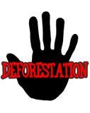 Disboscamento di Handprint Immagine Stock