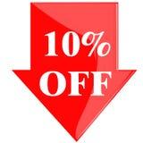 Disc 10 Percent Royalty Free Stock Photos