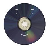 Disc. CD, DVD, reproduction, technology, manufacture, novelties, films, music, the data, a computer, advertising; macro, the person, a physiognomy Royalty Free Stock Photography