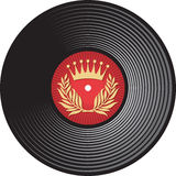 Disc. Vector vinyl disc, vinyl record Stock Photography