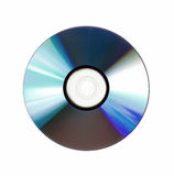 Disc. Single disc cd dvd isolated on white background Stock Photography