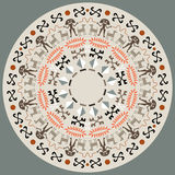 Disc With Aboriginal Art Royalty Free Stock Photo