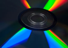 Disc on black Royalty Free Stock Image
