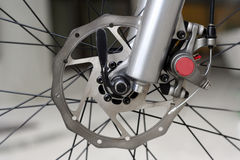 Disc brake. New hydraulic mountainbike disc Stock Photos