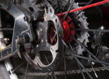 Disc brake of a bicycle Royalty Free Stock Photos