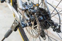 Disc brake on bike Stock Photos