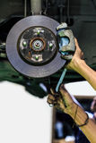 Disc brake of a car Stock Photos