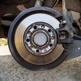 Disc brake detailed closeup Stock Photo
