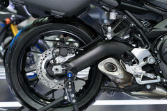 Disc brake of motorcycle's rear wheel Royalty Free Stock Photography