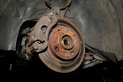 Disc brake in old car. Stock Photography