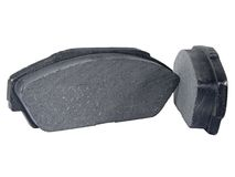 Disc Brake Pads. A Set of Disc Brake Pads Isolated royalty free stock photo
