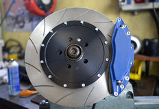 Disc and brake pads Stock Image
