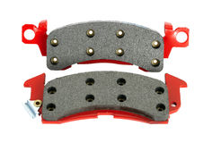 Disc brake pads isolated Stock Images
