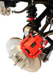 Disc Brake and Shock Assembly, isolated Stock Photo