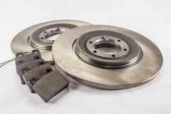 Disc brakes and brake pads Royalty Free Stock Photo