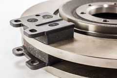 Disc brakes and brake pads Stock Images