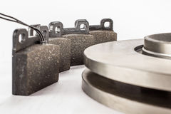 Disc brakes and brake pads Royalty Free Stock Images