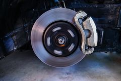 Disc brakes, stopping the break ,Car Suspension and car bearing parts concept - 2. Disc brakes, stopping the break ,Car Suspension and car bearing parts concept stock images