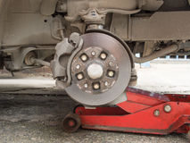 Disc break in maintenance Stock Photo