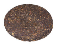 Disc of chinese puer tea Royalty Free Stock Photography