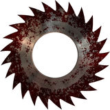Disc of circular saw blood. Stock Photo