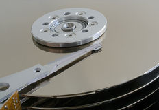Disc drive. Full focus HDR composition of disc drive stock photography