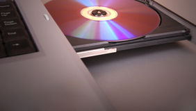 Disc drive with blank cd, dvd Stock Photography