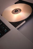 Disc drive with blank Cd, Dvd (cd-rom) Stock Photography