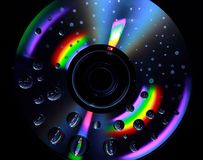 Disc. A disc with drops Stock Images