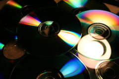Disc & DVDs. Bunch disc & DVDs royalty free stock photos