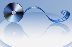 Disc-and-film Stock Photo