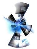 Disc fragment. Colored disc fragment - fractal illustration vector illustration