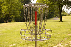 Disc Golf. Frisbee Golf or Disc Golf Basket or Hole Royalty Free Stock Image