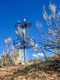 Disc Golf basket on a course in New Mexico