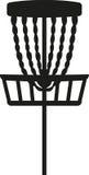 Disc golf basket. Equipment vector royalty free illustration